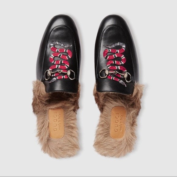 6ea7b36d069 Gucci men s Princetown slipper with king snake